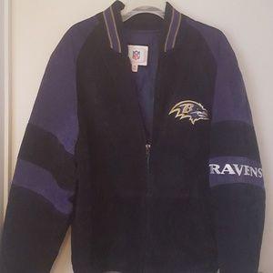 Men's Varsity Ravens Leather Jacket